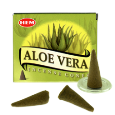 Cônes encens Hem Aloe Vera x10