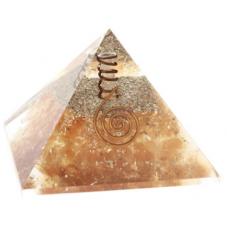 Pyramide Orgonite Ambre