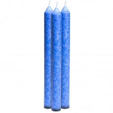 Bougie stéarine bleue à...