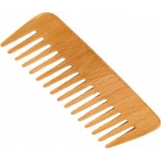 Peigne cheveux bouclés hêtre